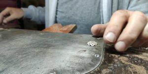 elaboración de botón charro